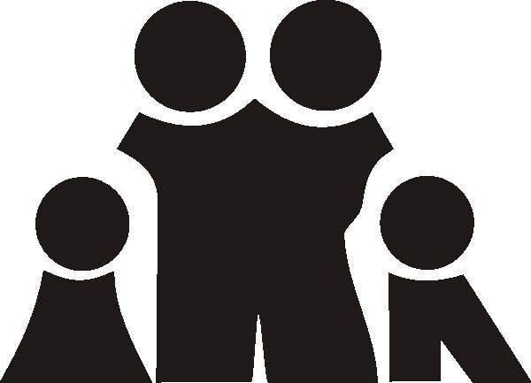 Family symbols clipart graphic free download Family Sign Symbol Black Clip Art at Clker.com - vector clip art ... graphic free download