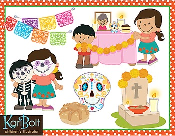 Family traditions clipart svg freeuse stock Day Of The Dead Dia de Muertos Traditions Clip Art svg freeuse stock