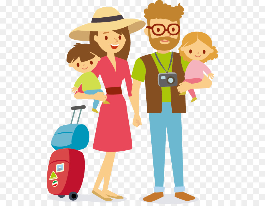 Family travel clipart