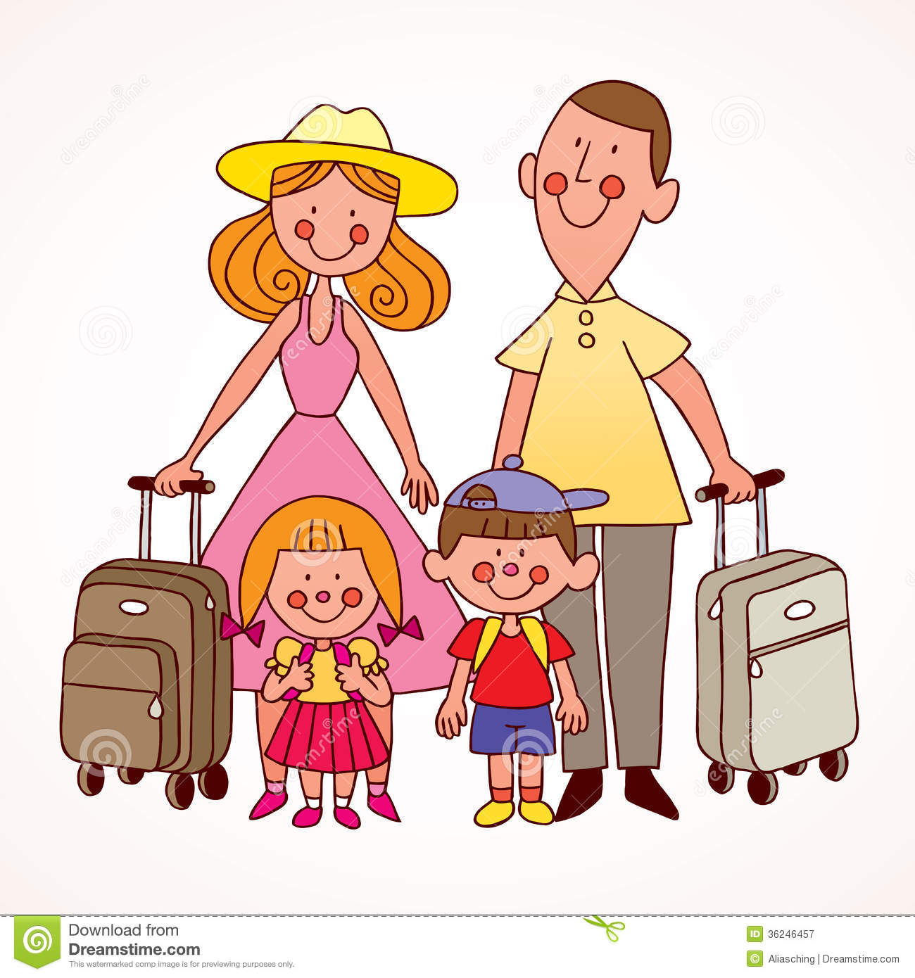 Family travel clipart clipart free stock Family travel clipart » Clipart Station clipart free stock