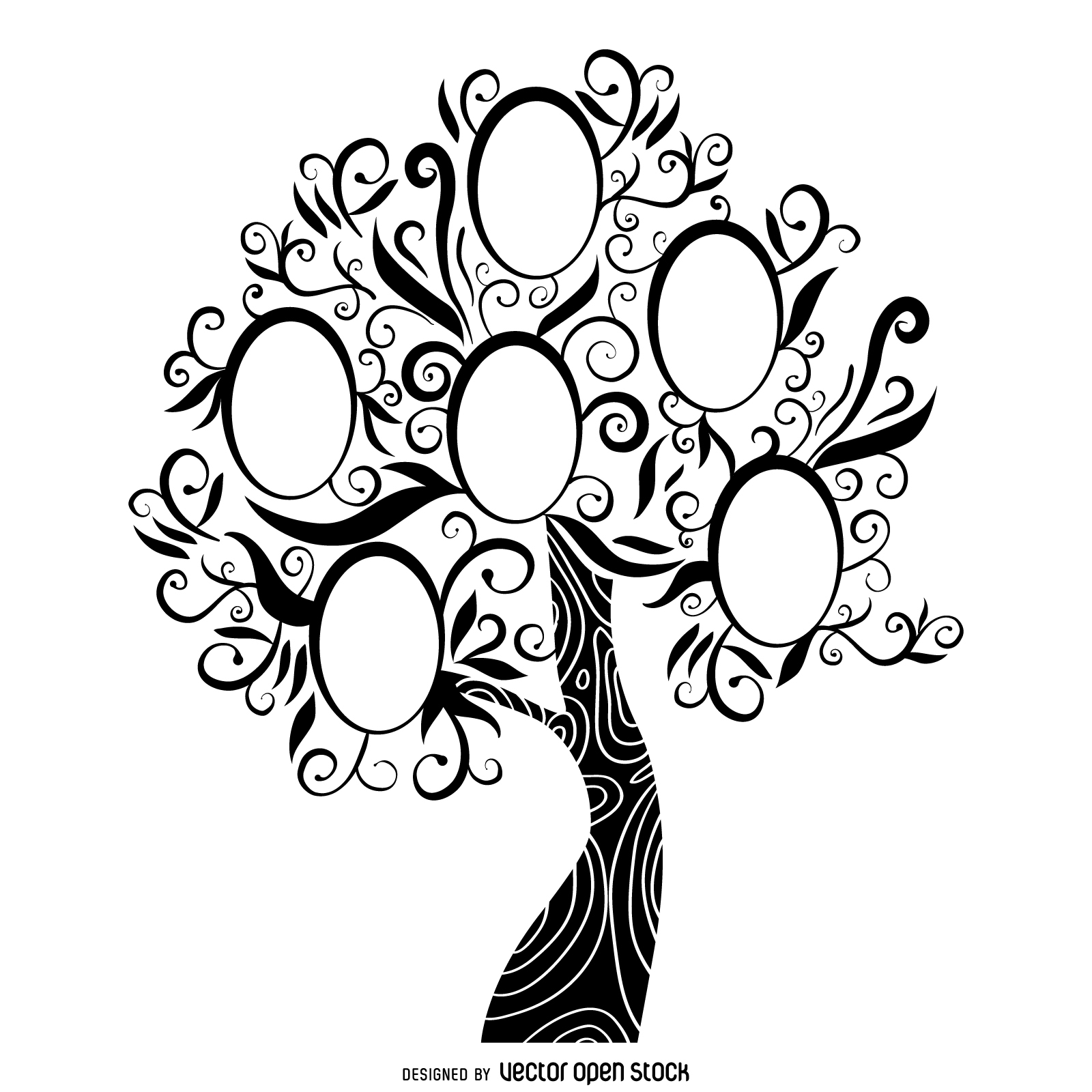 Family tree clipart in black and white image freeuse library Family Tree Clipart Black And White | Free download best Family Tree ... image freeuse library