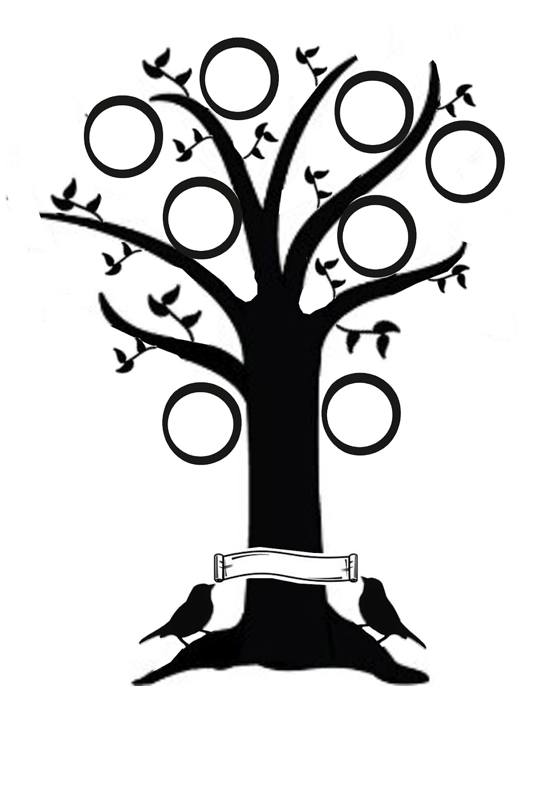 Family tree clipart in black and white jpg transparent download Best Family Tree Clipart #24219 - Clipartion.com jpg transparent download