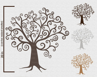 Wispy tree clipart graphic library download Free Swirly Tree Cliparts, Download Free Clip Art, Free Clip Art on ... graphic library download