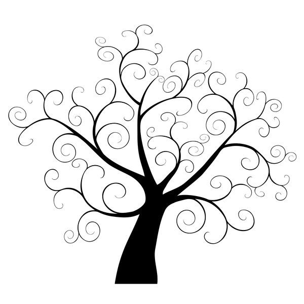 Free black and white clipart of young trees clip black and white download Images Of Tree Branches Clipart | Free download best Images Of Tree ... clip black and white download