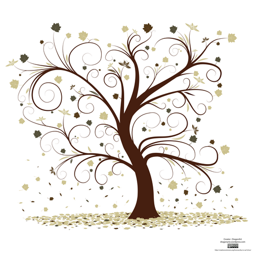 Family tree clipart with curly branches svg banner black and white stock Curly Tree Design Vector | design | Tree designs, Tree art, Button tree banner black and white stock
