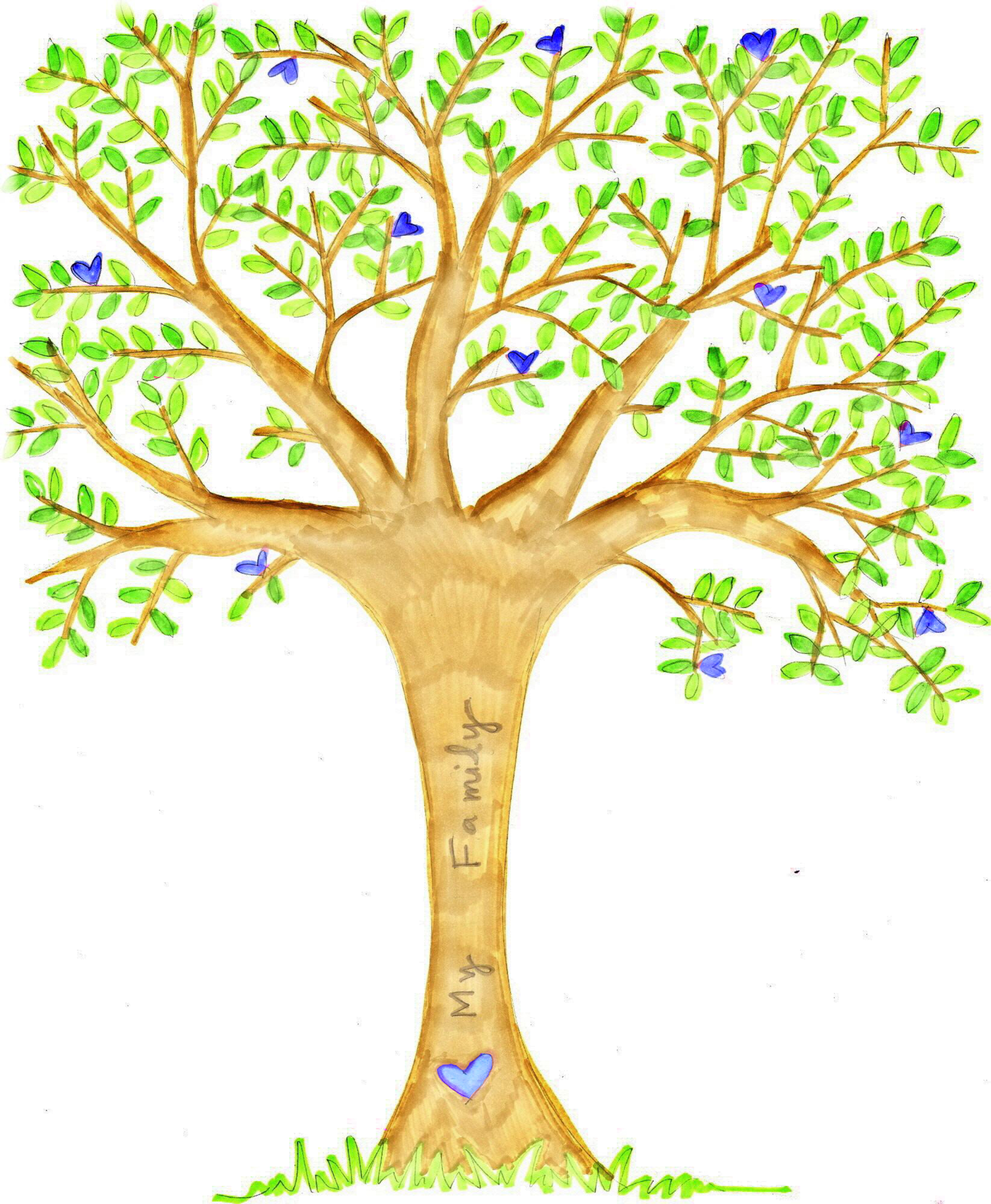 Family tree with hearts clipart graphic download Free Family Tree Clipart - Clipart Kid graphic download