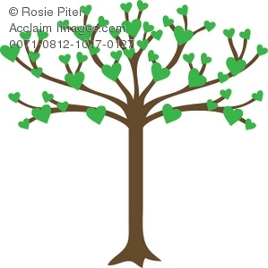 Family tree with hearts clipart banner freeuse 17 Best images about Family Tree on Pinterest | Trees, A tree and ... banner freeuse
