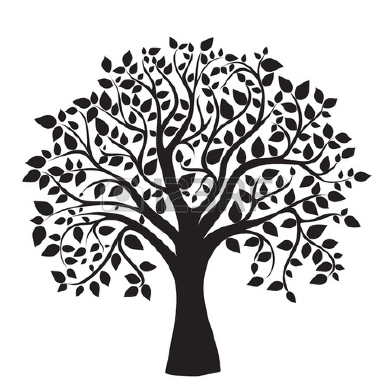 Family tree with hearts clipart vector black and white library Tree Silhouettes Clipart Clip Art, Family Tree Clipart Clip Art ... vector black and white library