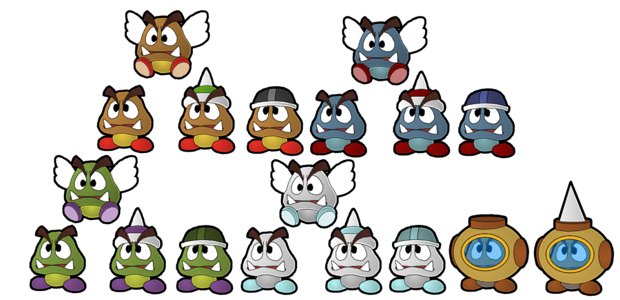 Family tree with people clipart jpg transparent library The Goomba Family Tree by Leonidas23 on DeviantArt jpg transparent library