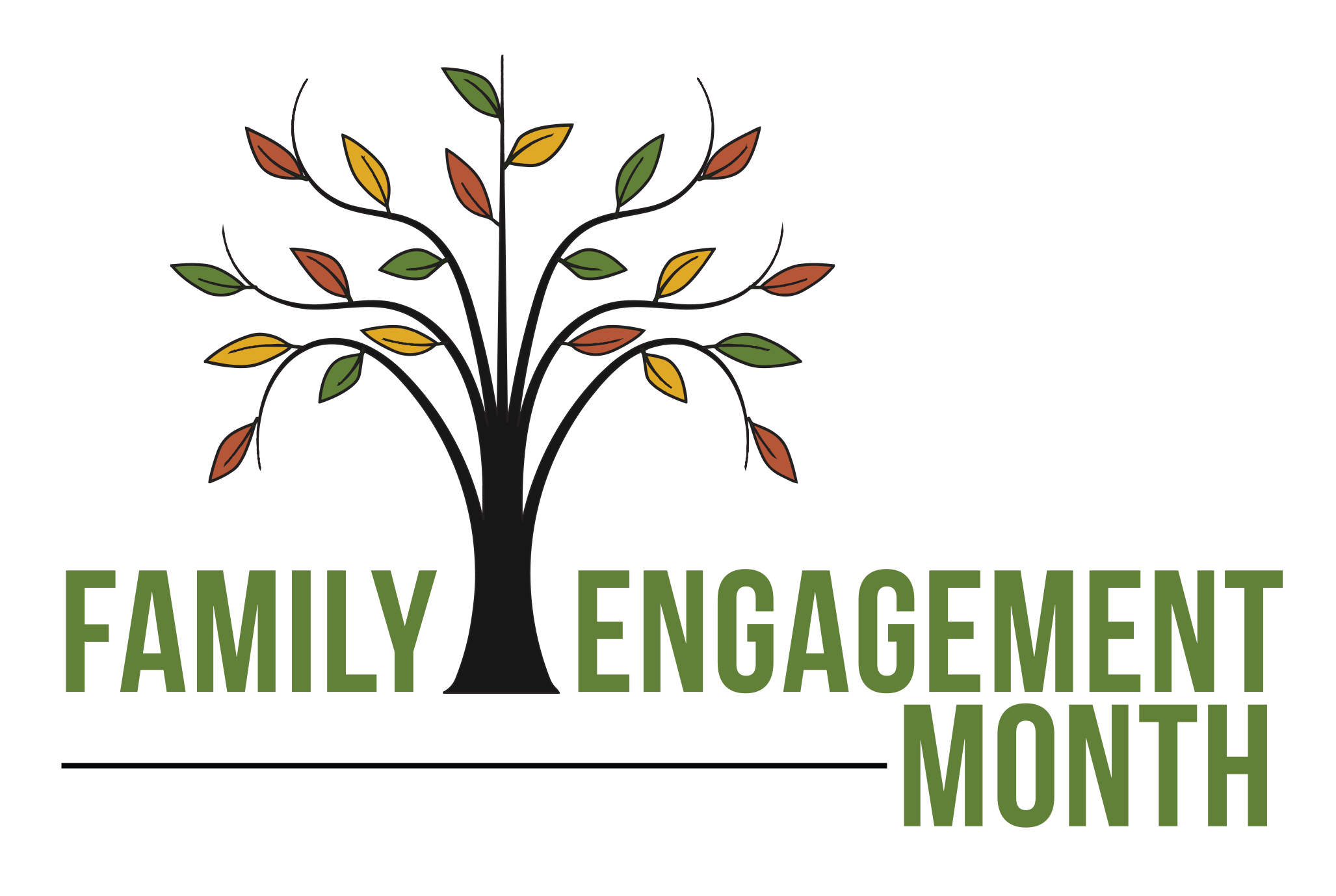 Family tree word clipart png black and white library Family Engagement png black and white library