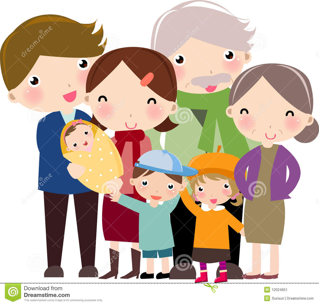Family with 2 daughters clipart freeuse download Family clipart 4 people 2 daughters 1 » Clipart Station freeuse download
