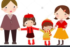 Family with 2 daughters clipart png black and white download Family clipart 4 people 2 daughters 2 » Clipart Station png black and white download