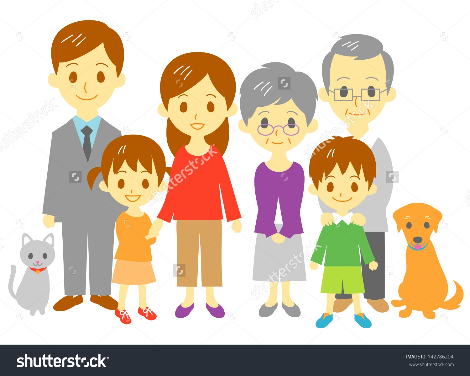 Family with 2 daughters clipart graphic royalty free Family clipart 4 people 2 daughters 12 » Clipart Station graphic royalty free