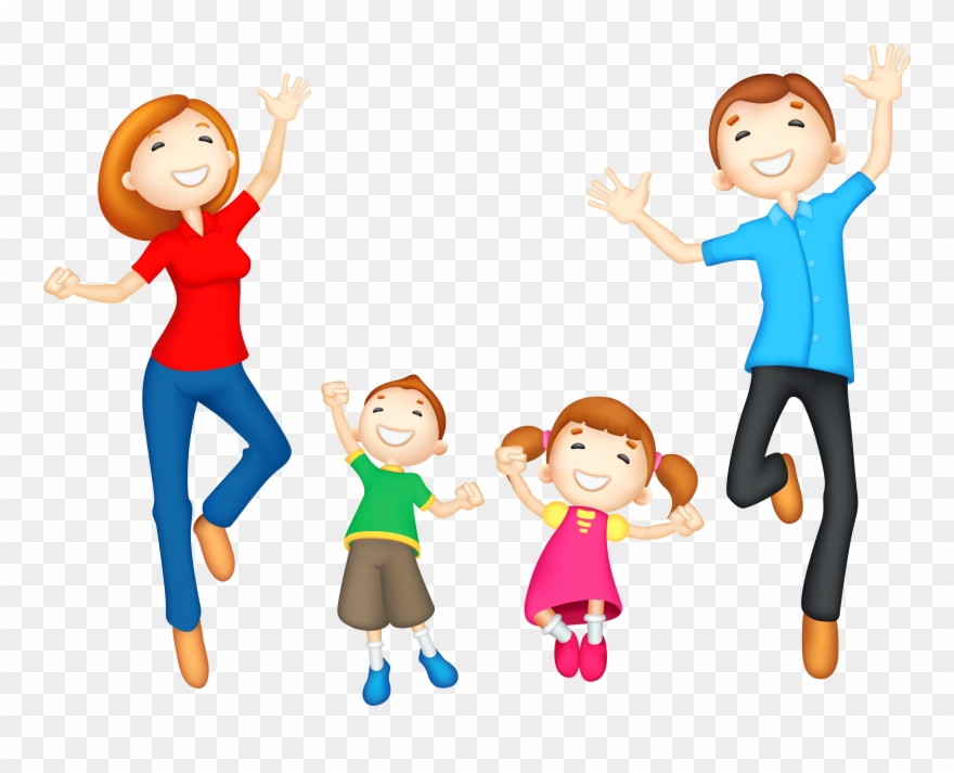 Family with baby clipart