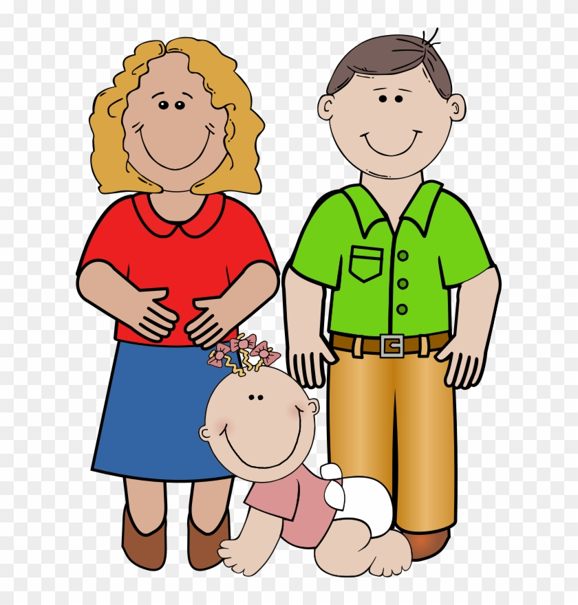 Family with baby clipart free download Baby Girl Crawling, - Small Family Clipart, HD Png Download ... free download