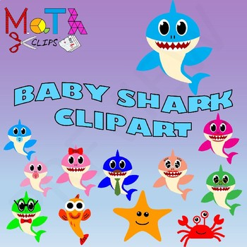 Family with baby clipart clip art transparent stock Baby Shark Family of Sharks Clipart clip art transparent stock