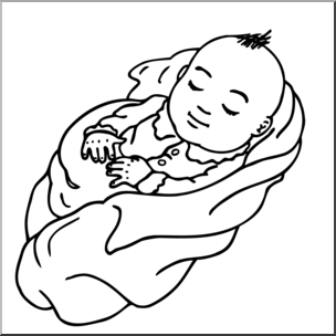 Family with baby clipart clipart download Clip Art: Family: Baby B&W I abcteach.com   abcteach clipart download