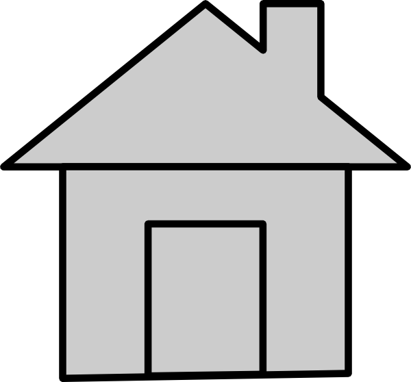 Gray House Icon Clip Art at Clker.com - vector clip art online ... png black and white