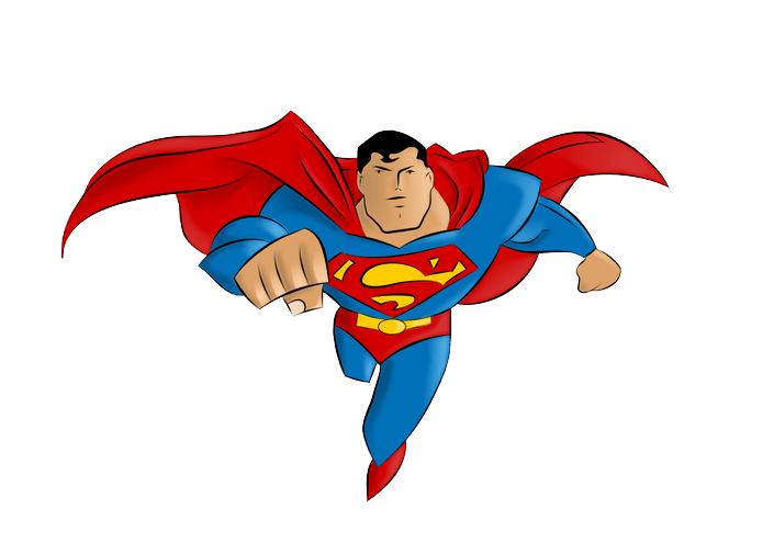 Famous star clipart clipart black and white Superman Png Famous Cartoon Characters Of All Time clipart black and white