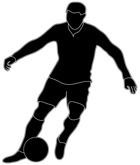 Famus soccer players clipart black and white vector library Free Soccer Player Cliparts, Download Free Clip Art, Free Clip Art ... vector library