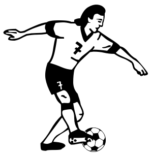 Famus soccer players clipart black and white clip freeuse library Free Soccer Player Cliparts, Download Free Clip Art, Free Clip Art ... clip freeuse library