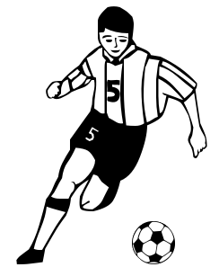 Famus soccer players clipart black and white vector transparent library Free Soccer Player Cliparts, Download Free Clip Art, Free Clip Art ... vector transparent library