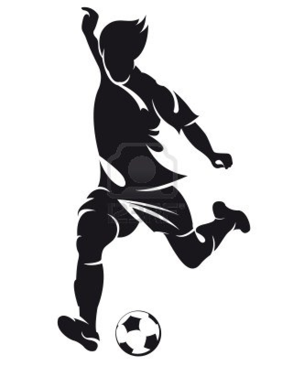 Famus soccer players clipart black and white clipart download Best Football Player Clipart #20944 - Clipartion.com clipart download