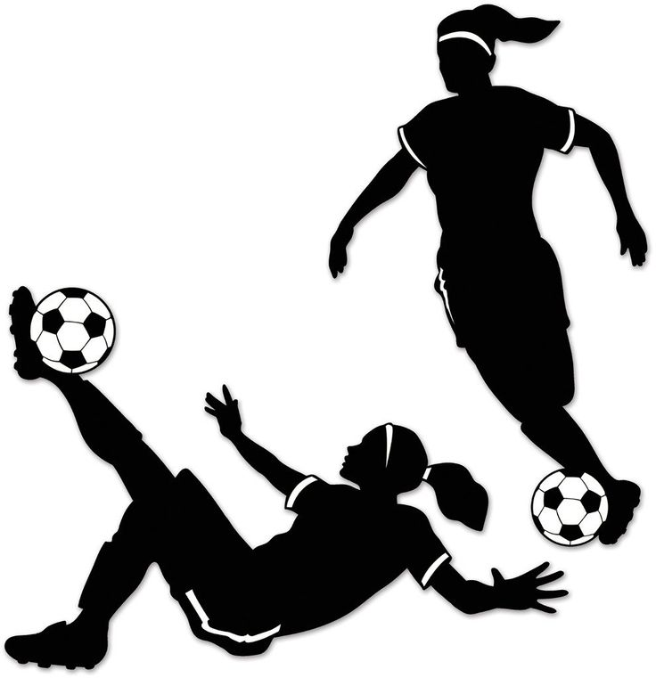 Soccer silhouette clipart graphic royalty free download Girl Soccer Player Clipart | Free download best Girl Soccer Player ... graphic royalty free download