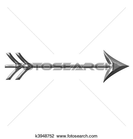 Fancy arrow black clipart image freeuse library Stock Illustration of 3D Silver Arrow k3948758 - Search EPS Clip ... image freeuse library