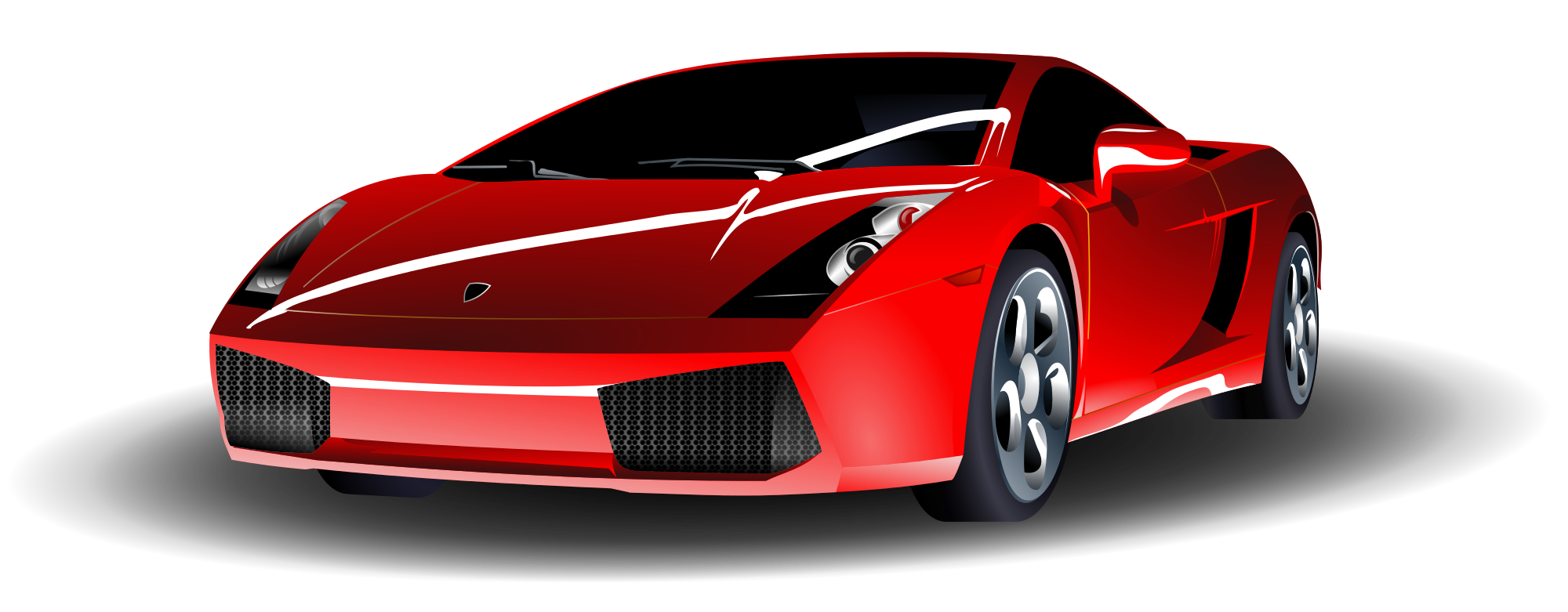 File red lamborghini svg. Fancy car clipart transparent