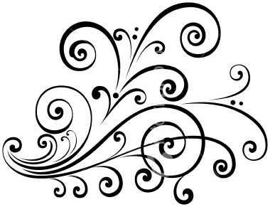 Fancy Scroll Clip Art | Clipart Panda - Free Clipart Images clipart black and white