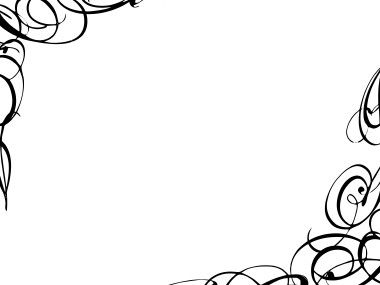 Fancy clipart borders svg black and white download Free Fancy Borders and Frames | Ist Curly Border image - vector ... svg black and white download