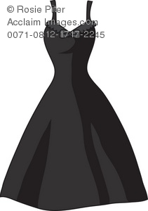 Royalty Free Clipart Illustration of a Black Party Dress - Acclaim ... clip stock