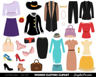 Girl in women clothes clipart - ClipartFox graphic black and white download
