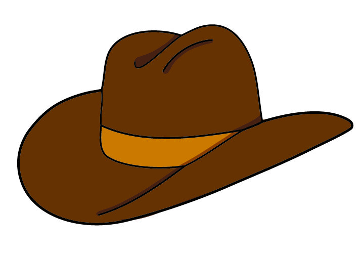 Fancy cowboy hat clipart