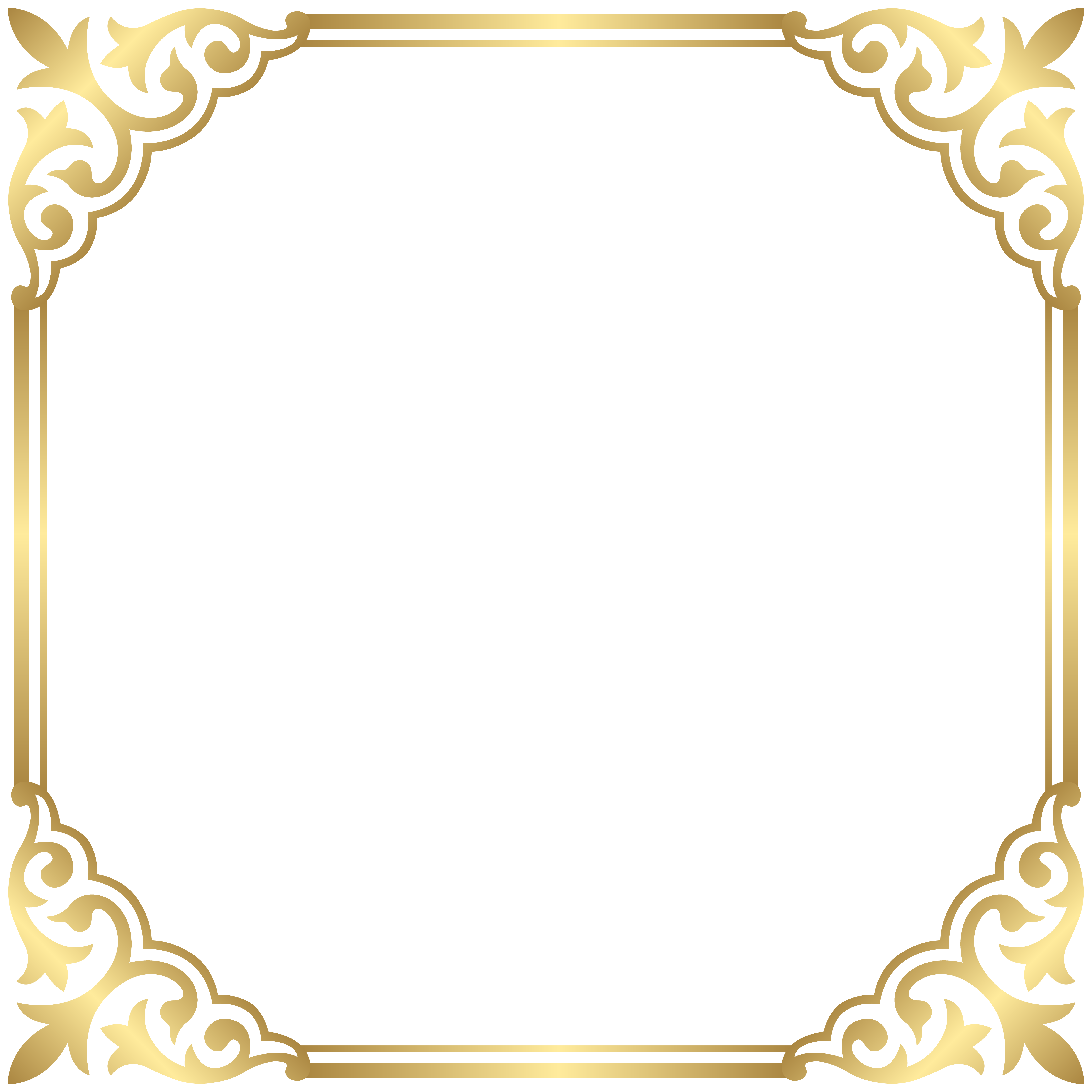 Fancy crown border clipart banner stock Gold Border Clipart - clipart banner stock