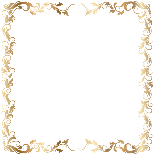 Fancy crown border clipart graphic library Border Deco Frame Gold Transparent PNG Image | Adressi | Pinterest ... graphic library