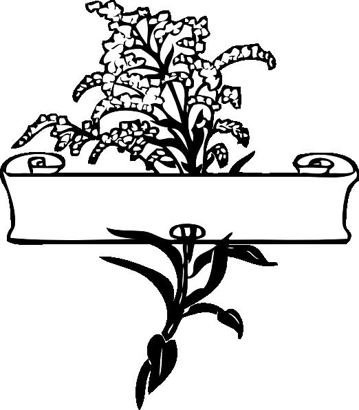 Flower spray clipart clipart free stock Scroll With Flower Spray Clip Art at Clker.com - vector clip art ... clipart free stock