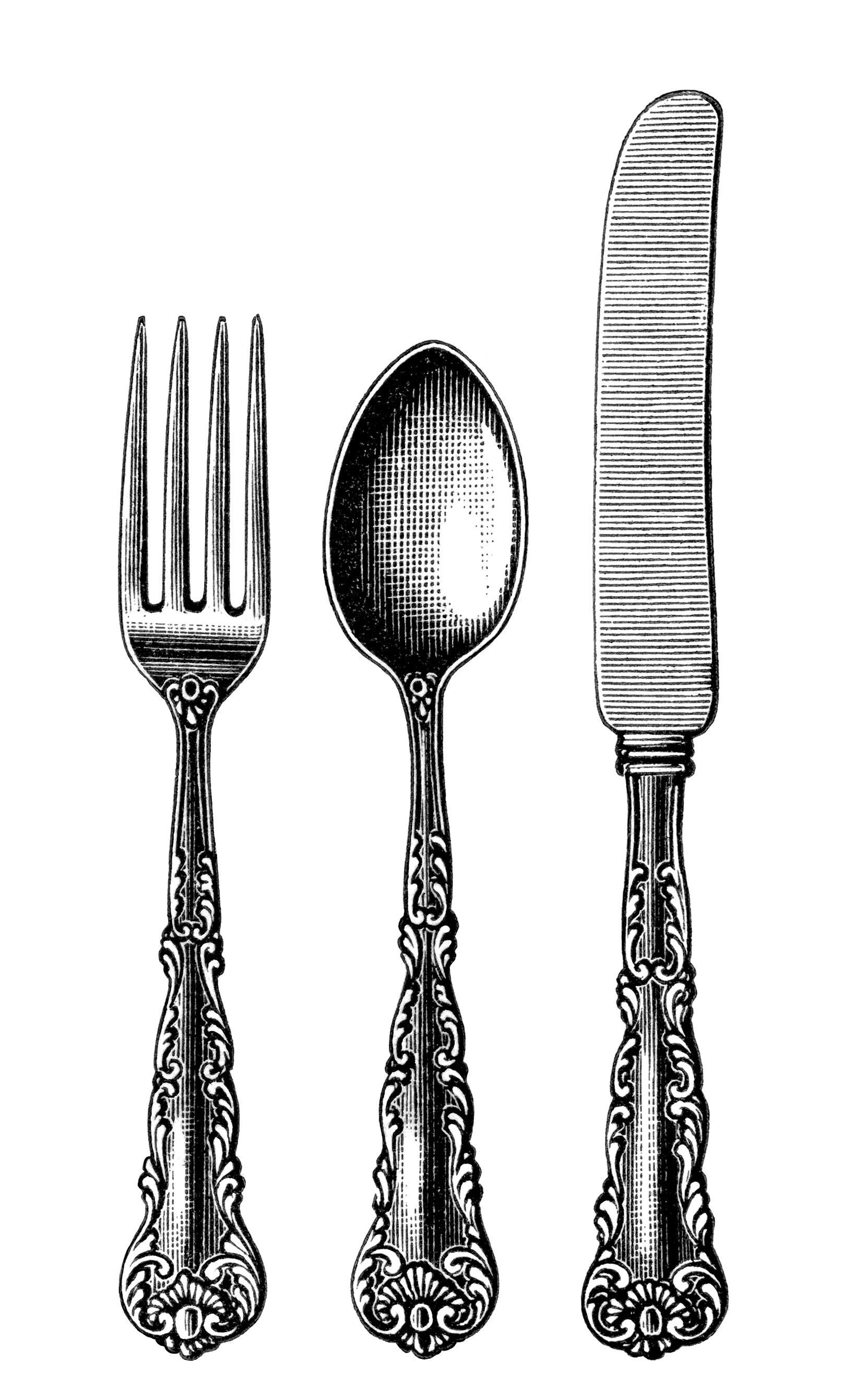 Fancy fork clipart picture transparent download Free download Vintage Fork Clipart for your creation. | Craft Ideas ... picture transparent download