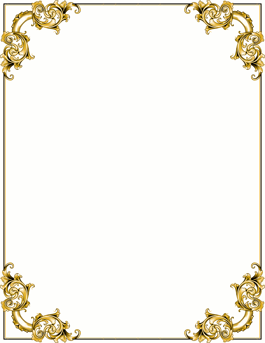Fancy Gold Scroll Clipart - Clipart Kid png royalty free