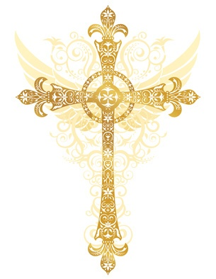 Fancy gold cross clipart banner library 17 Best images about crosses on Pinterest | Cross tattoos, Clip ... banner library