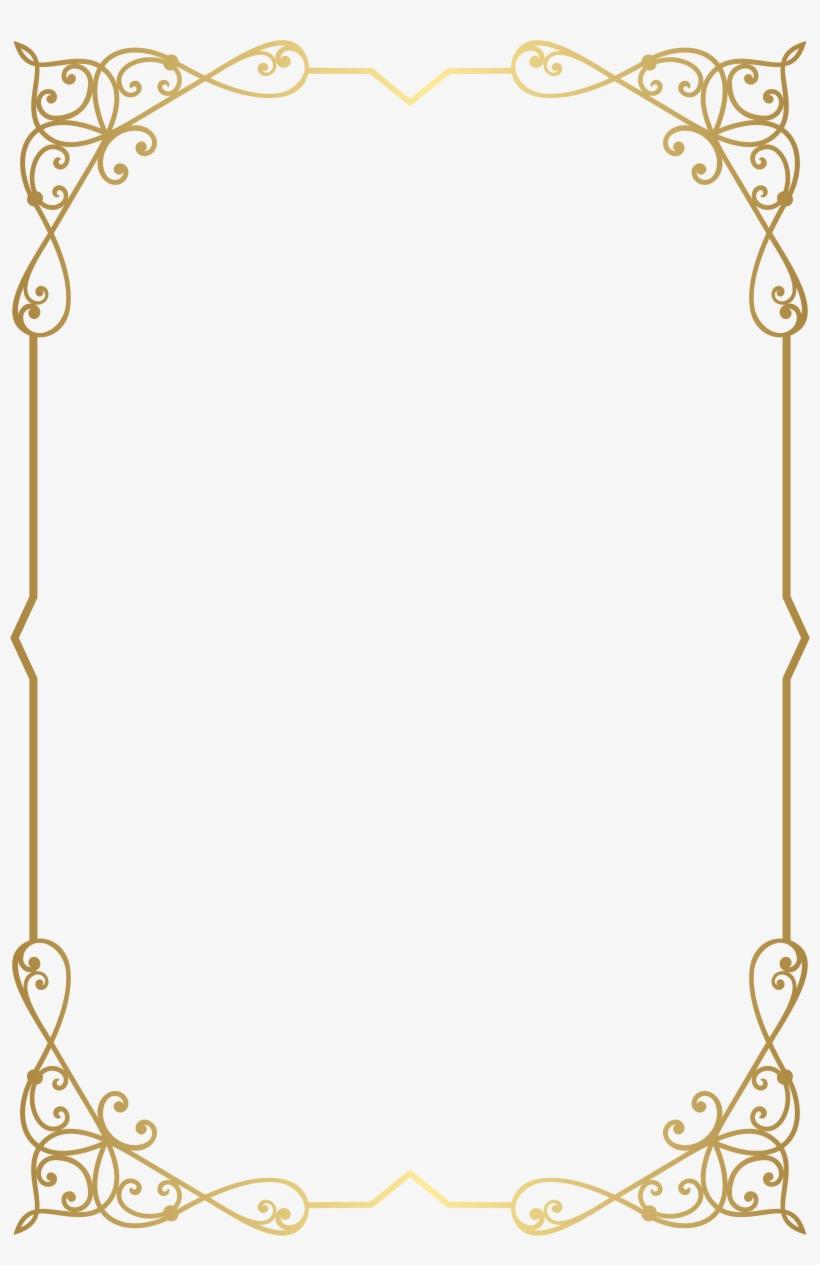 Fancy gold frame clipart vector freeuse Decorative Frame Border Png Clip Art Image Gallery - Fancy Gold ... vector freeuse