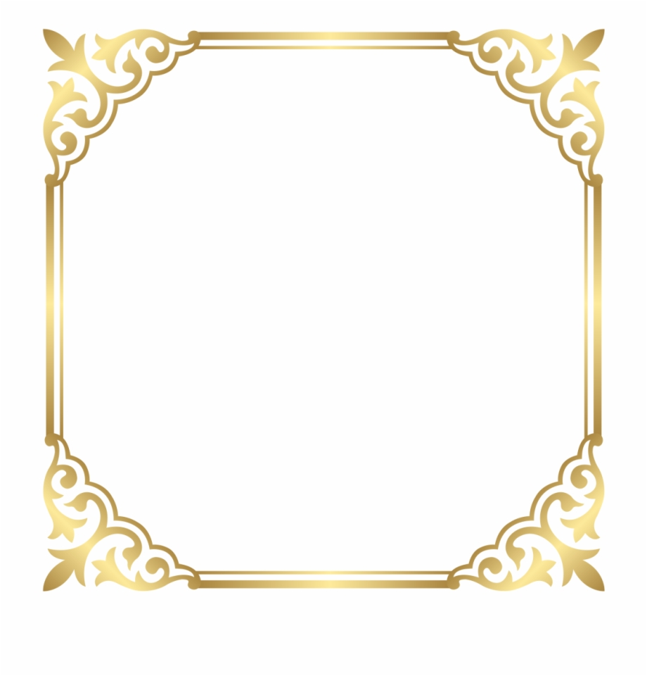 Gold borders clipart png stock Fancy Gold Border Png Free PNG Images & Clipart Download #953723 ... png stock