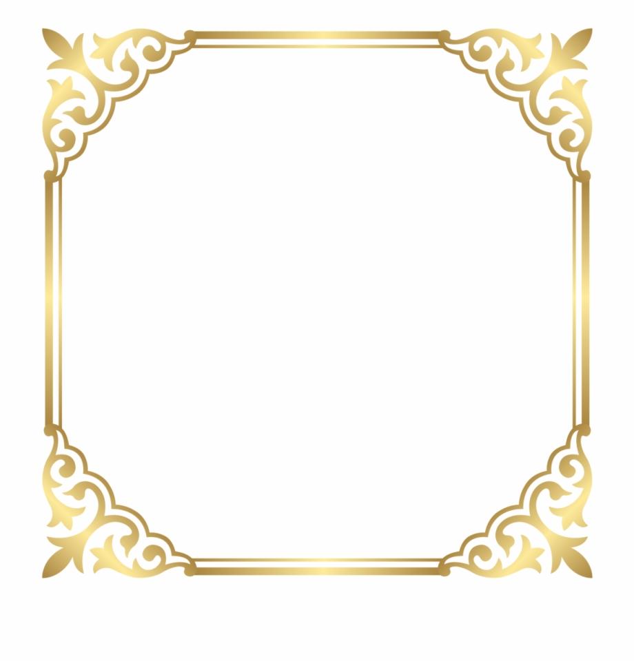 Fancy gold frame clipart jpg freeuse download Fancy Gold Border Png Free PNG Images & Clipart Download #953723 ... jpg freeuse download