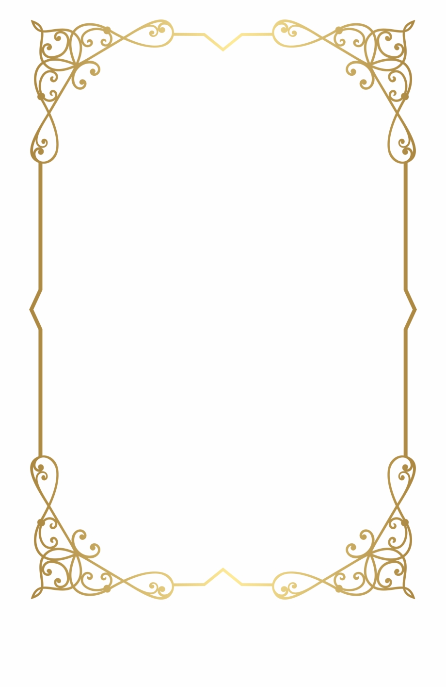 Simple gold border clipart clip art black and white download Decorative Frame Png - Fancy Gold Border Png, Transparent Png ... clip art black and white download