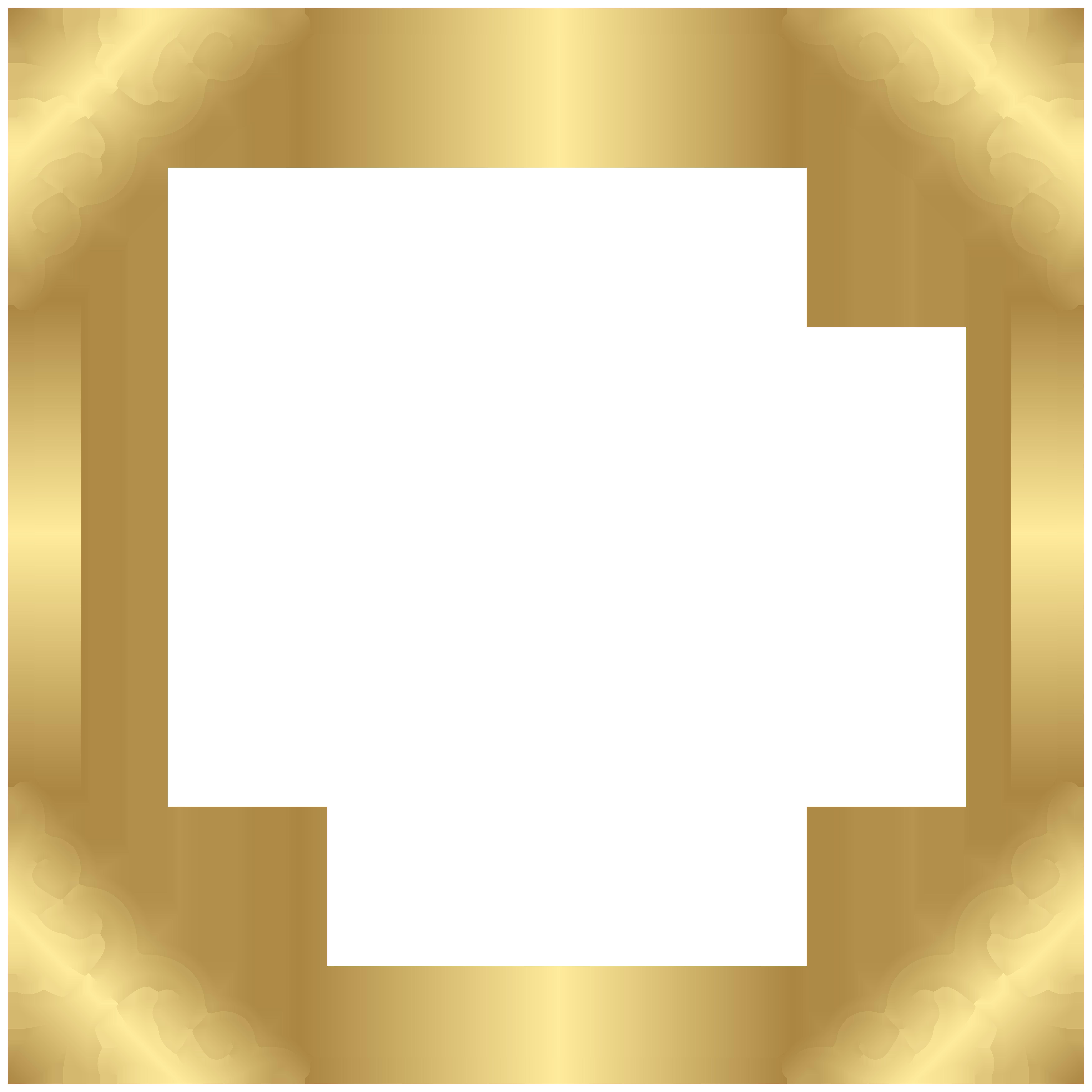 Fancy gold frame clipart clip art Fancy That Boutique LOUENHIDE Clip art - Gold Border Frame PNG Clip ... clip art