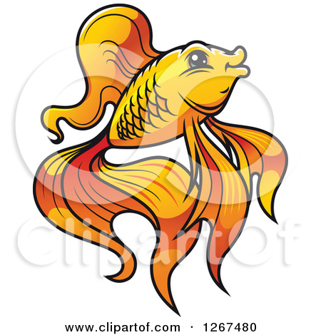 Fancy goldfish clipart graphic transparent stock Royalty-Free (RF) Goldfish Clipart, Illustrations, Vector Graphics #1 graphic transparent stock