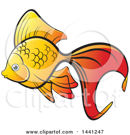Fancy goldfish clipart picture black and white stock Royalty-Free (RF) Goldfish Clipart, Illustrations, Vector Graphics #1 picture black and white stock
