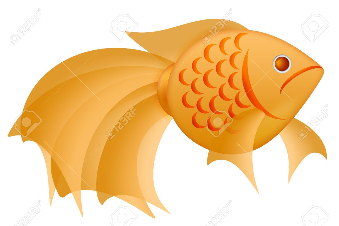 Fancy goldfish clipart png royalty free library Fancy Goldfish Clipart Illustration Isolated On White Background ... png royalty free library