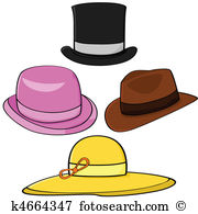 Fancy hat Clip Art Vector Graphics. 981 fancy hat EPS clipart ... clip library library